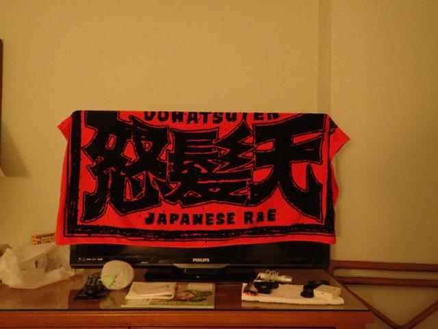 テレビがタオル掛けにちょうどいいサイズ