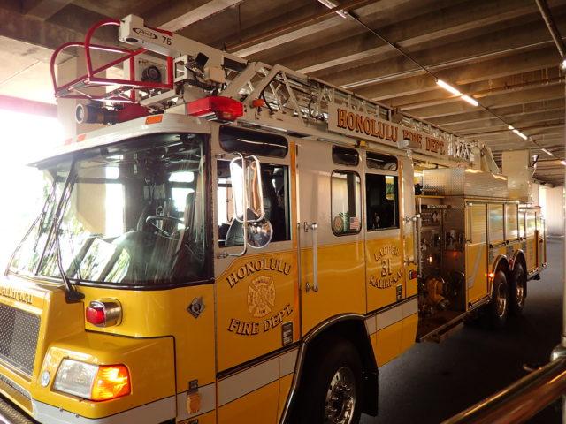 消防車は黄色い